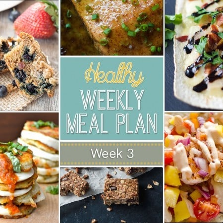 Healthy Weekly Meal Plan #3