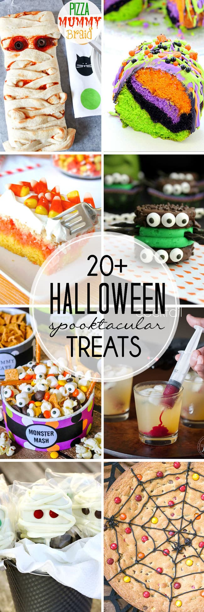 Need Halloween Recipes? Check out these 20+ Halloween Treats! Get ready for Halloween by making some yummy, fun treats from this roundup! via @jennikolaus