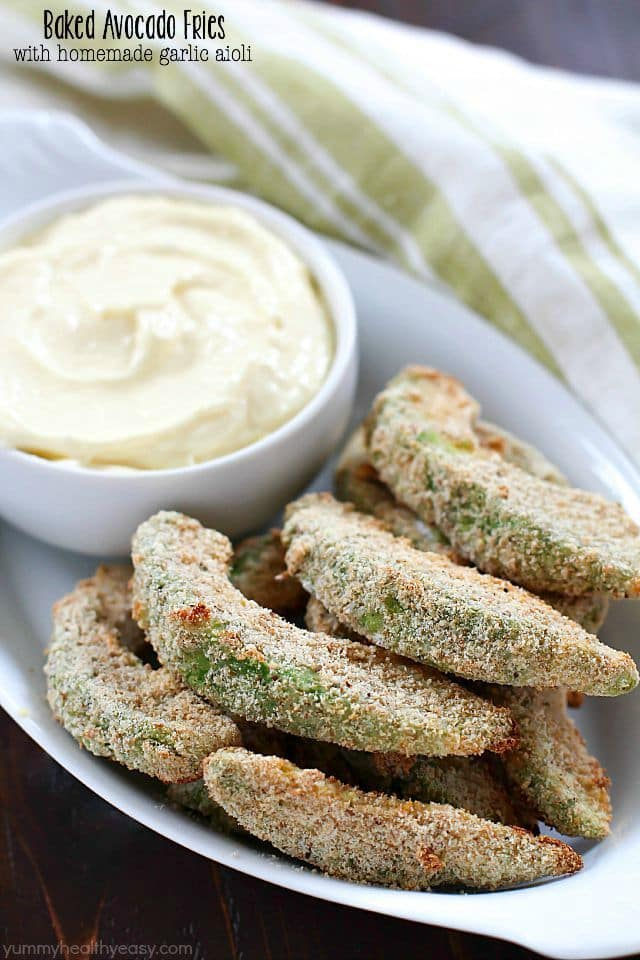 Baked Avocado Fries - these are incredible! Dip them in a ho..