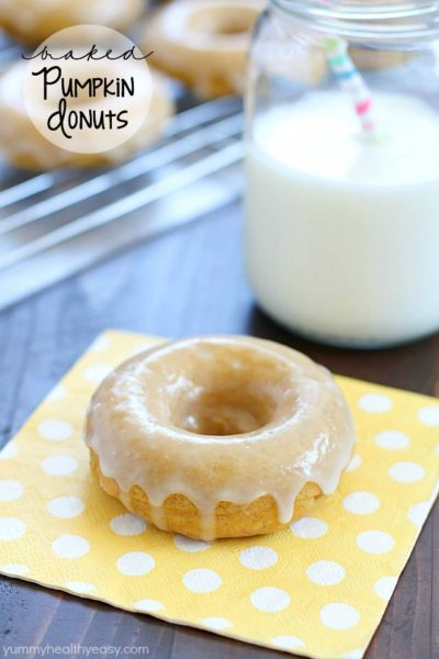 You won't believe the incredible flavor in these Baked Pumpkin Donuts... especially since they're so easy to make! Every bite is soft, moist and full of pumpkin & spice flavors. One of the best donut recipes I've ever had! #truvia #ad