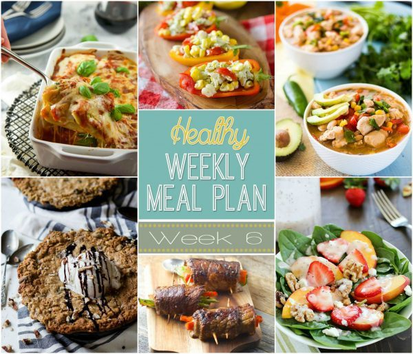 Check out this week's Healthy Weekly Meal Plan (Week 6)! Full of healthy meals, planned out just for you!