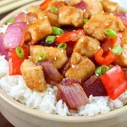 Orange Chicken Stir Fry + Cookbook Giveaway!