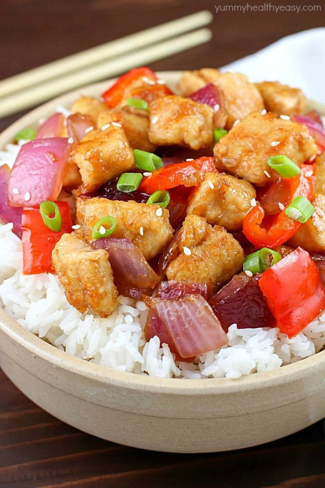 Easy Orange Chicken Stir Fry Yummy Healthy Easy