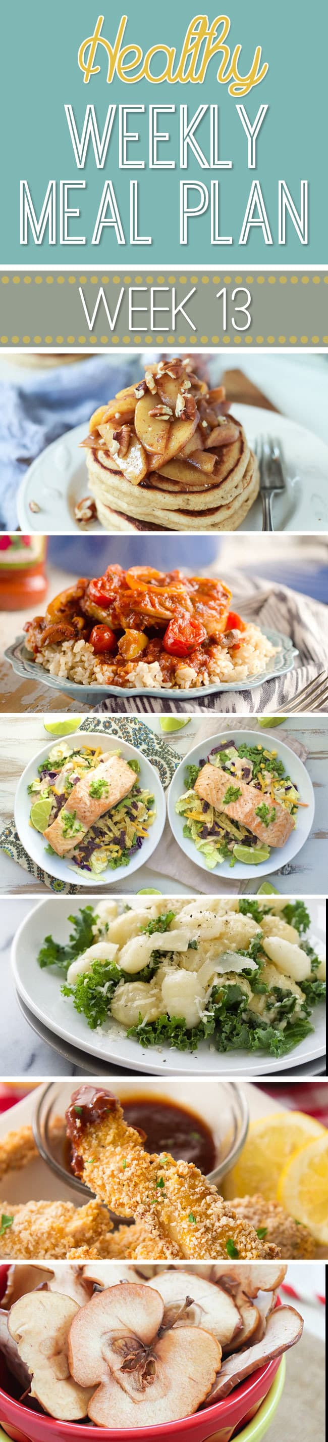 Healthy Meal Plan Week #13 - yummy breakfast, lunch, dinner, snack and dessert recipes for you to make this week!