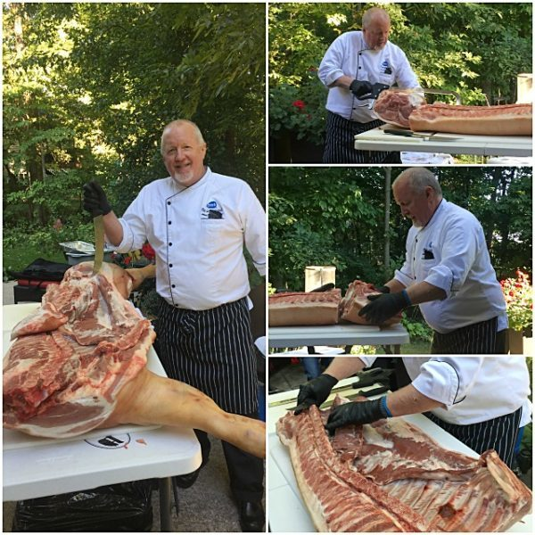 Very interesting pork fabrication with Chef Jim Murray