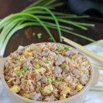 Crazy delicious kid-friendly, family-favorite Pork Fried Rice that's easy, only has seven simple ingredients, takes 20 minutes or less and will WOW any and everyone! Definitely PIN this for later!