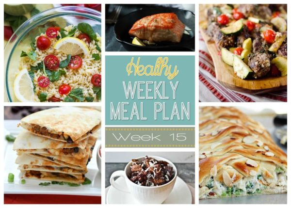 Get your shopping list ready because Healthy Weekly Meal Plan #15 is up and ready to go! Week 15 has lots of our families favorite breakfast, lunch, dinner, snack and dessert recipes we know you are sure to enjoy!