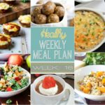 Healthy Meal Plan Week 16 - get your pen & paper ready because this weekly meal plan is going to rock your socks! There are all sorts of goodies in this week's meal plan! Healthy breakfast, lunch, dinner and even a snack and dessert recipe too!