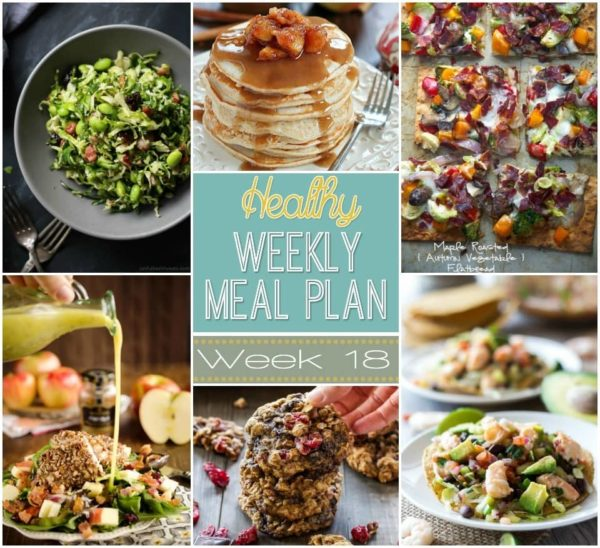 Check out this week's Healthy Weekly Meal Plan Week #18 - it's stuffed full of healthy main dishes to add to your dinner rotation! Plus a breakfast, lunch, snack and even an amazing dessert, too!