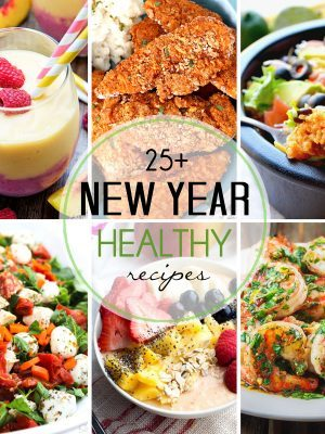 These 25+ healthy recipes are perfect for adding to your meal plans to help you stay on the healthy track for the new year! They range from breakfast to snacks and dessert and are not to be missed!