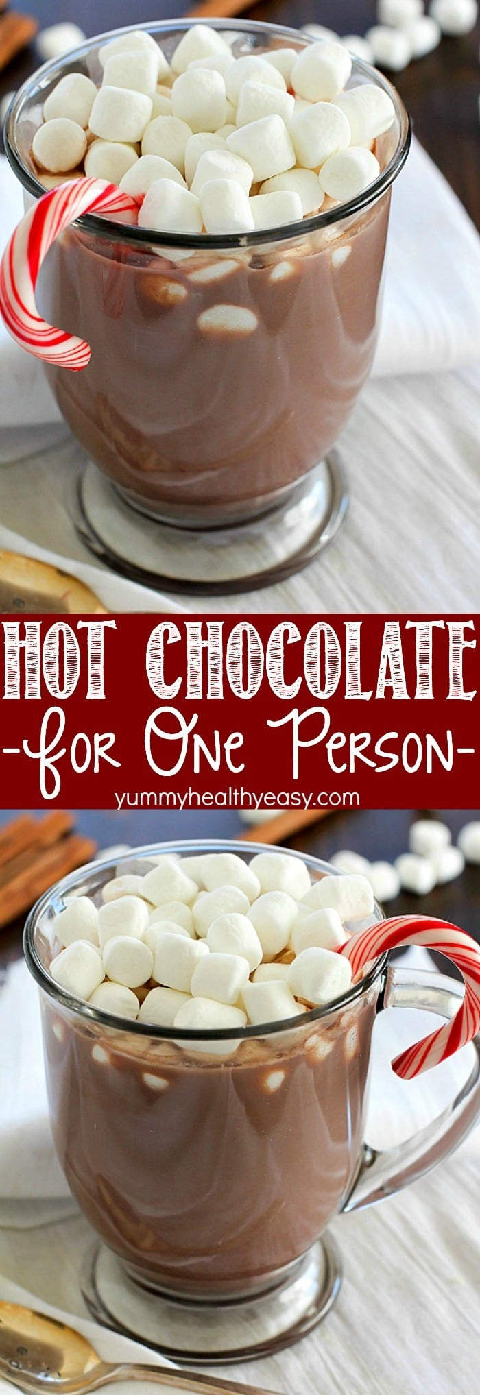 ... Hot Chocolate for ONE! Only 4 easy ingredients and ONE minute to a