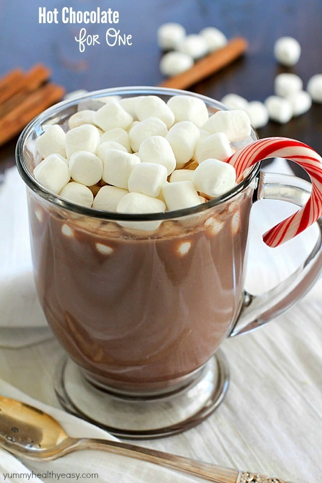... Hot Chocolate for ONE! Only 4 easy ingredients to a fabulous mug of