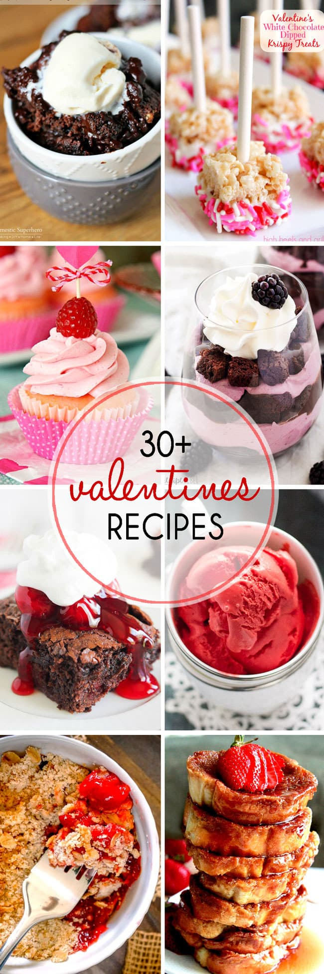 30+ Valentines Day Treats for you to make for your loved one! There are tons of delicious Valentines desserts to choose from in this delectable roundup of treats!