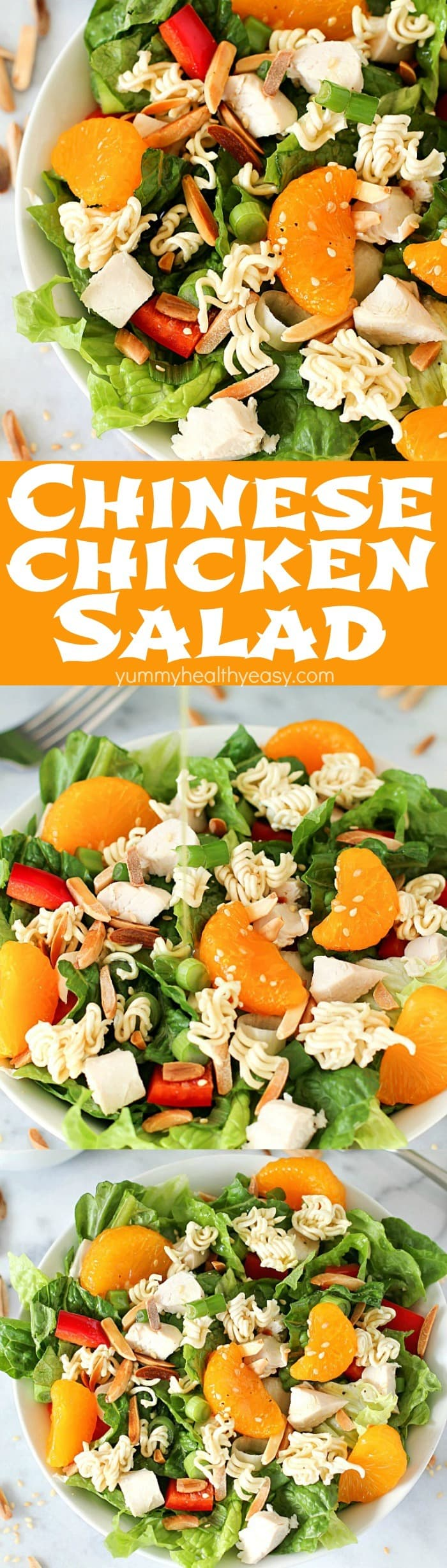 This Best EVER Chinese Chicken Salad is a healthy, flavorful, easy lunch or dinner salad recipe. It's easy to make but tastes like it's straight from a restaurant - this will become a favorite salad recipe at your house!