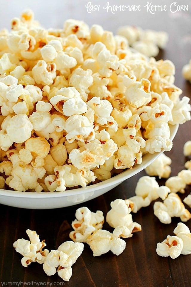 Easy Homemade Kettle Corn More Popcorn Recipes Yummy Healthy Easy