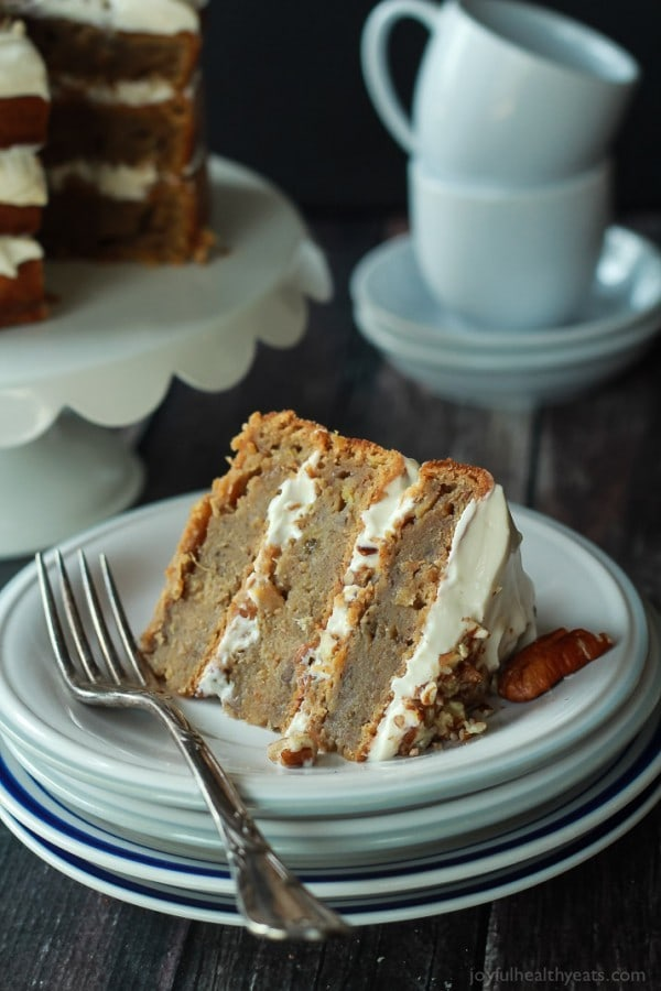 Healthier Hummingbird Cake with Cream Cheese Frosting by Joyful Healthy Eats