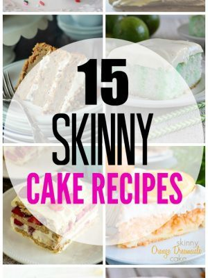 Craving something sweet but don't want to overindulge? Satisfy your sweet tooth with these 15 skinny cake recipes!