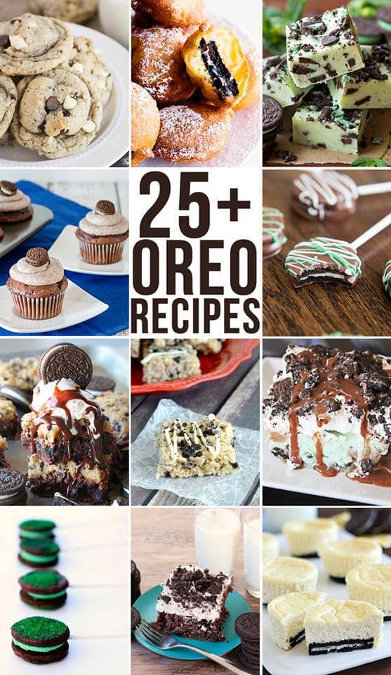 25+ Oreo Recipes that will make you DROOL! They all look so delicious!