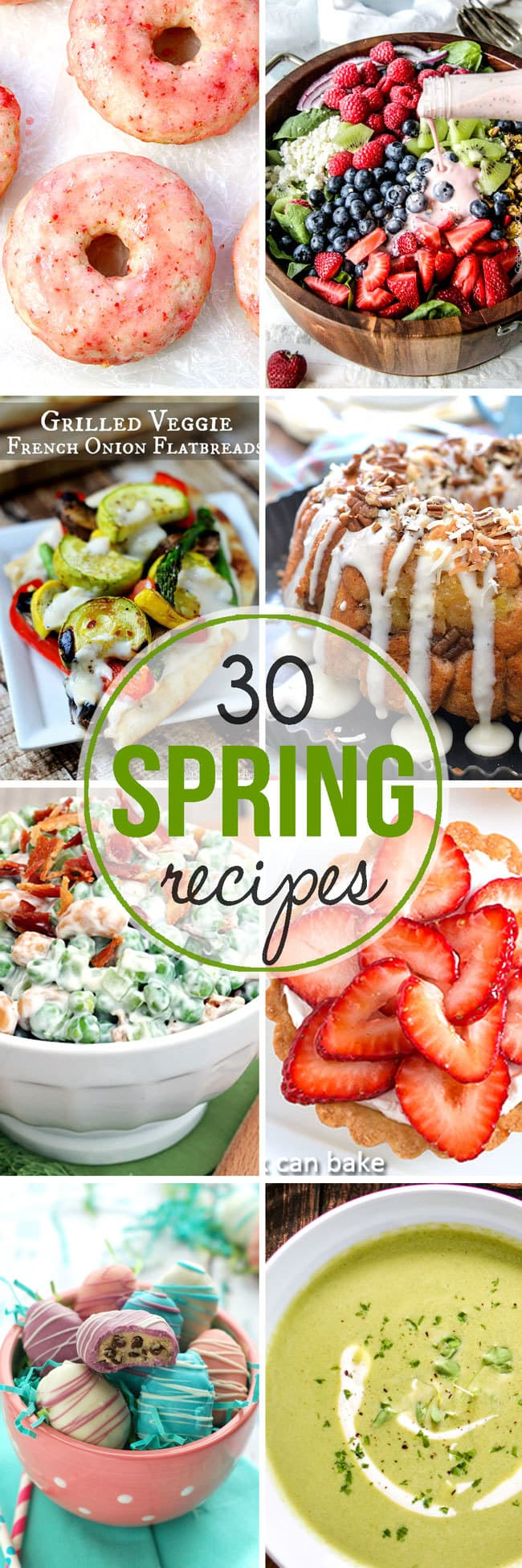 30+ spring recipes for you to enjoy! From breakfast all the way to dessert, there are all sorts of delicious recipes that scream springtime!