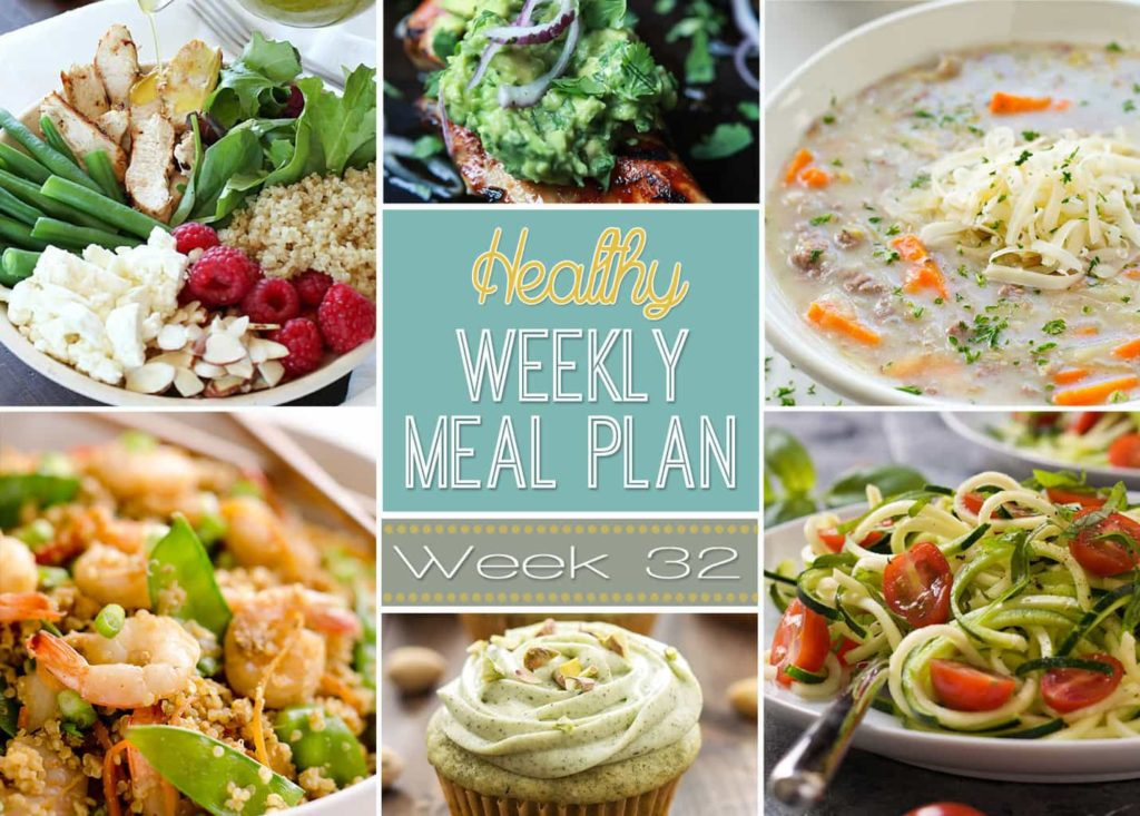 Healthy Weekly Meal Plan #32 - be prepared to be amazed at all the yummy dishes in this week's Healthy Weekly Meal Plan! Plan out your meals for the week with ease, and eat healthy! You will love the array of new recipes to try!