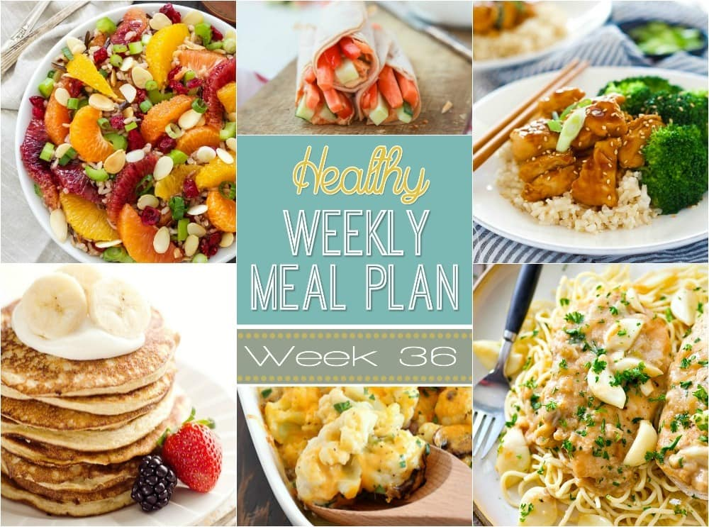 healthy weekly meal plan 36 yummy healthy easy