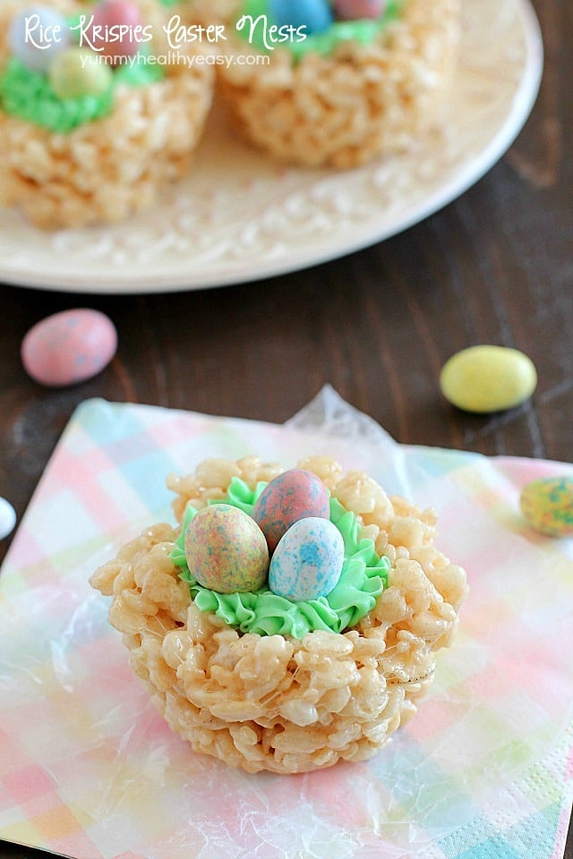 Easy Rice Krispies Easter Nests Yummy Healthy Easy