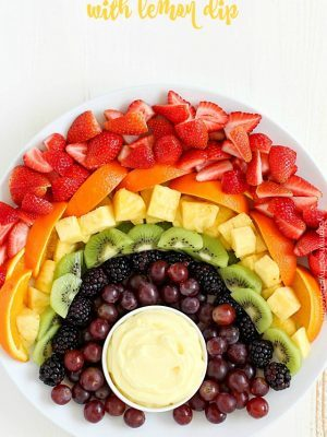 Fruit Rainbow with Lemon Dip