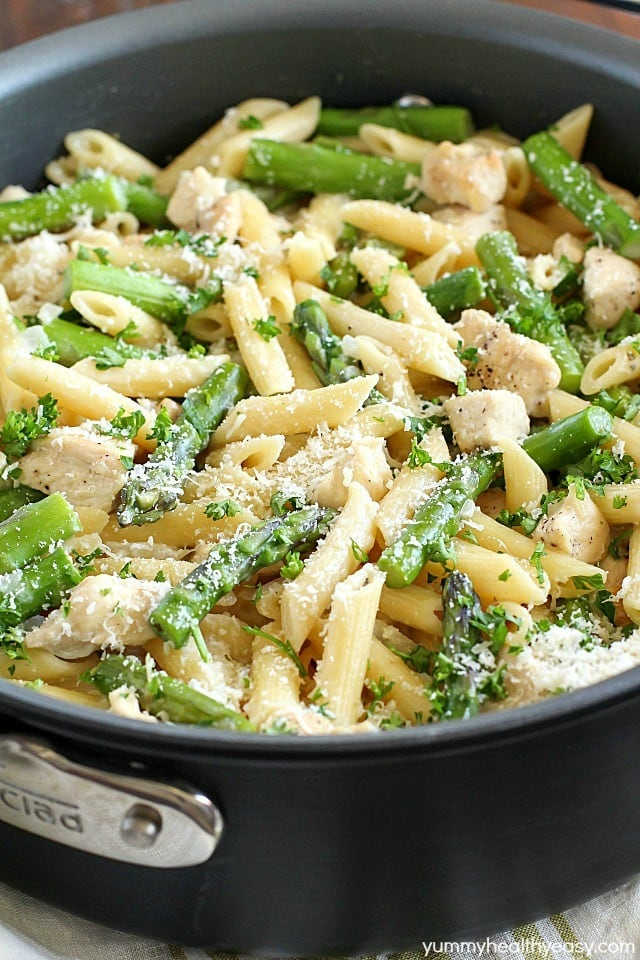 recipe: asparagus chicken pasta [4]