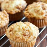 Skinny Banana Muffins with a crazy delicious crumble topping! These banana muffins are the best way to use up those brown bananas on your counter and they're healthier thanks to a few awesome ingredient swaps! AD