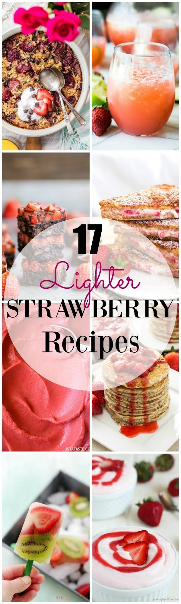 Strawberry recipes made lighter so that you can enjoy them guilt free!! Strawberry desserts make for the best summer desserts!