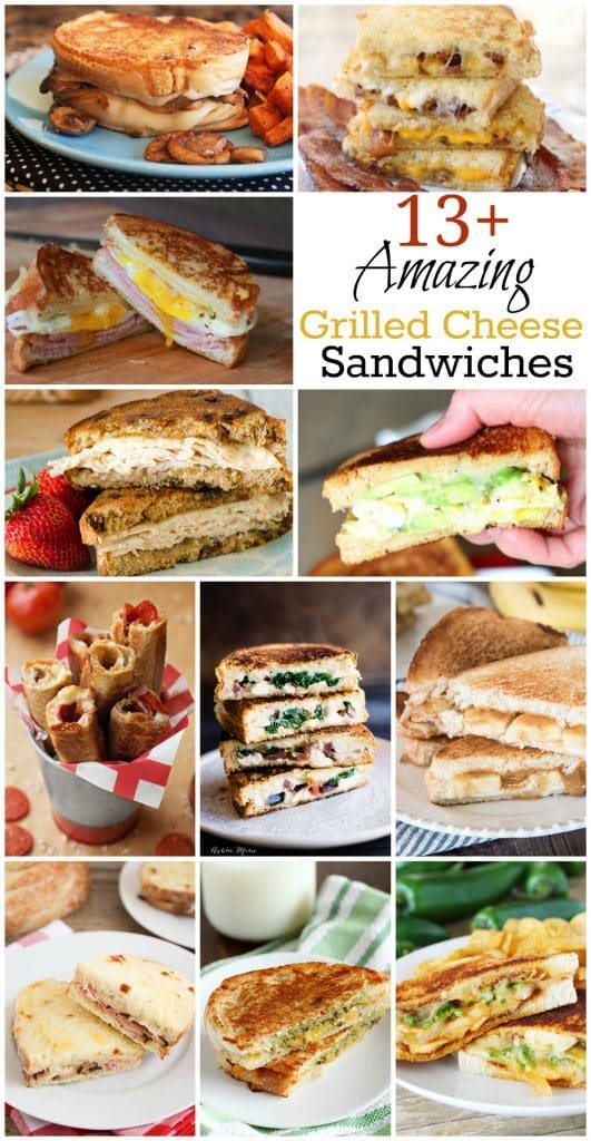 Amazing Grilled Cheese Sandwiches! You will find 13+ fantastic grilled cheese sandwich recipes to drool over! Happy Grilled Cheese Day!