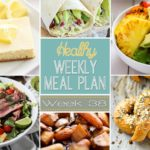Healthy Weekly Meal Plan #38 will inspire the cook in you! You will love preparing the dishes on this healthy menu plan! You get a dinner idea for each night plus a lunch, snack, side dish and dessert recipe. Plus they're all healthier recipes - SCORE!