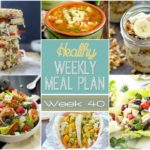 Healthy Weekly Meal Plan #40 is full of yummy, healthy recipes for you to make this week! We have breakfast, lunch, dinner, dessert and a snack all prepped out for you for a week of healthy recipes!