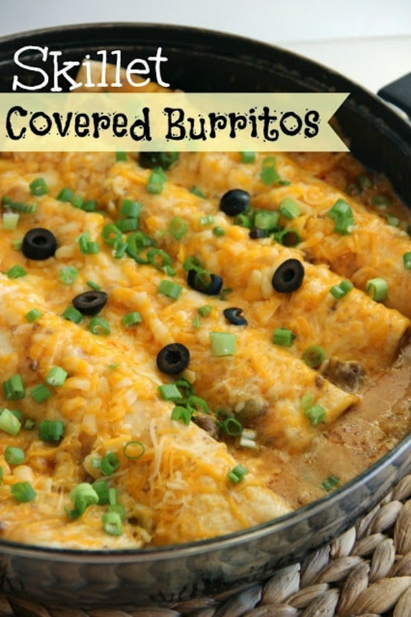 Skillet Covered Burritos by Diary of a Recipe Collector