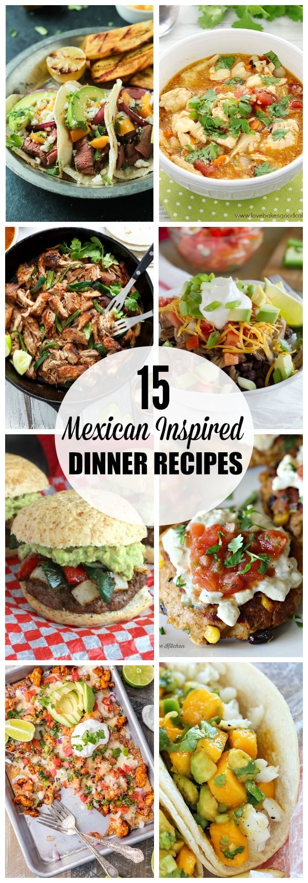 Mexican inspired dinner recipes for your next Cinco de Mayo celebration! From tacos to posole, there's plenty of options to spice up your dinner rotation!