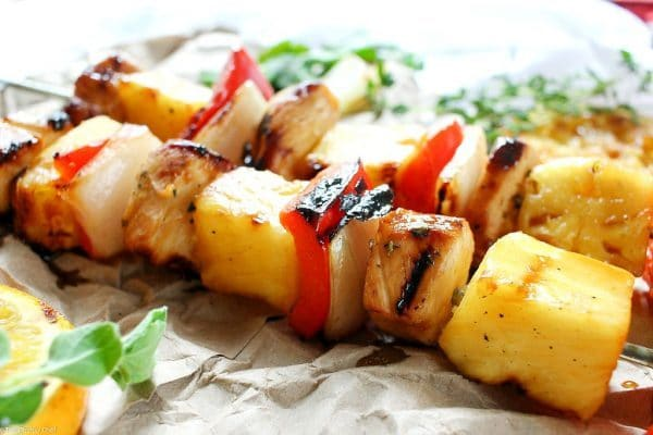 Caribbean Citrus Habanero Chicken Skewers by The Chunky Chef