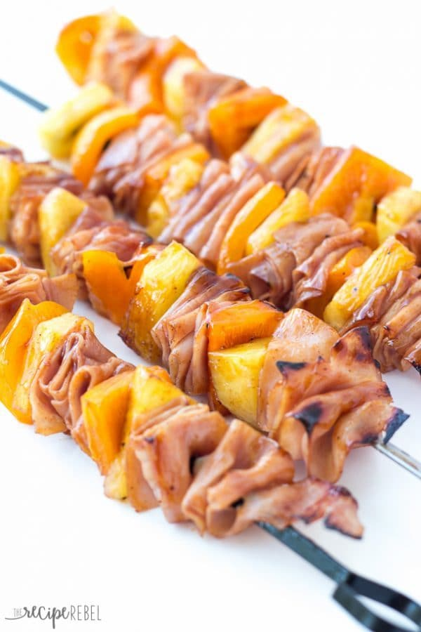 Ham and Pineapple Skewers by The Recipe Rebel