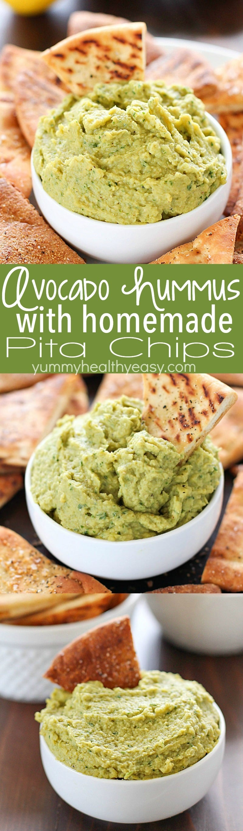 ... easy homemade pita chips, and you have yourself a healthy, flavorful