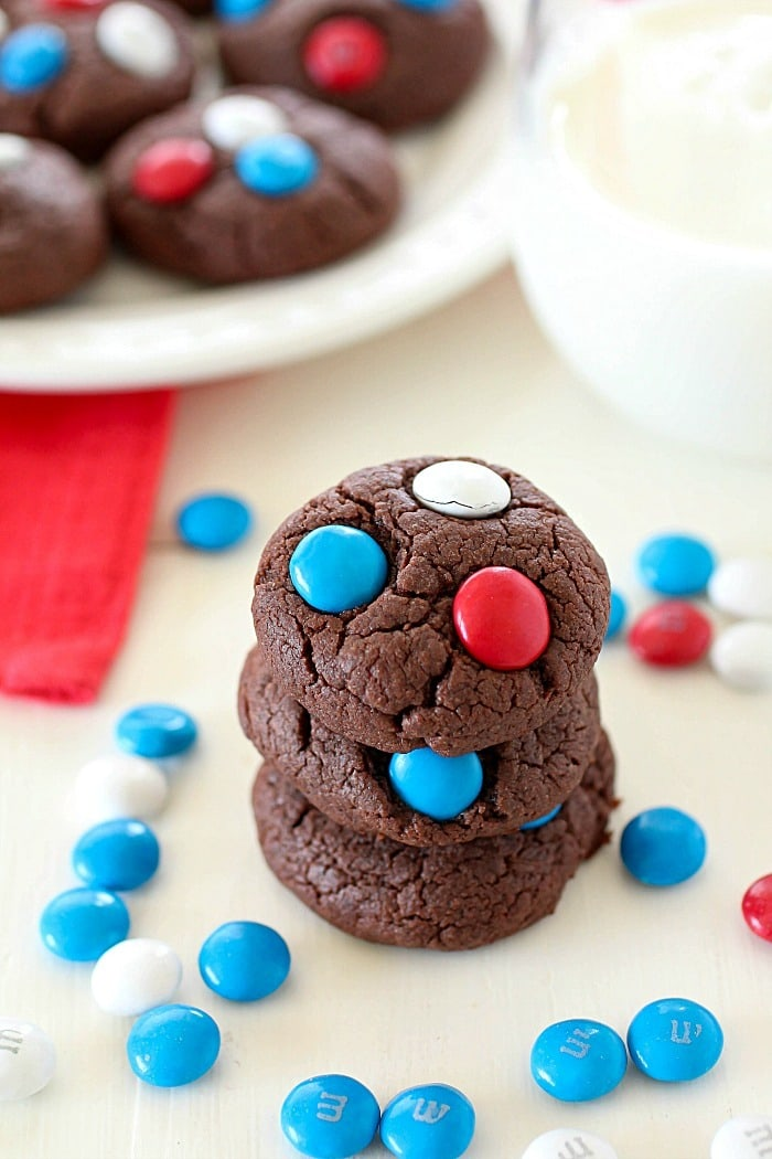 """3-Ingredient Easy Cake Mix Cookies are just about as easy as """"homemade"""" cookies can get! Only three ingredients and they bake up in under 10 minutes! These are great for the beginning baker or for anyone that's in a rush and needs a quick cookie recipe!"""
