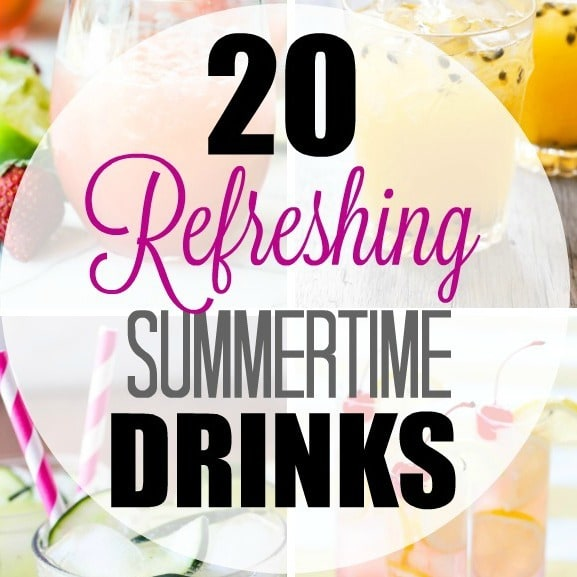 Refreshing summer drinks to the rescue on a hot summer day! Here are 20 drink recipes for you to try this summer - the tastiest way to cool down on a hot summer night!