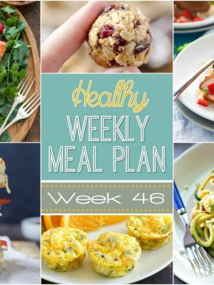Healthy Weekly Meal Plan #46