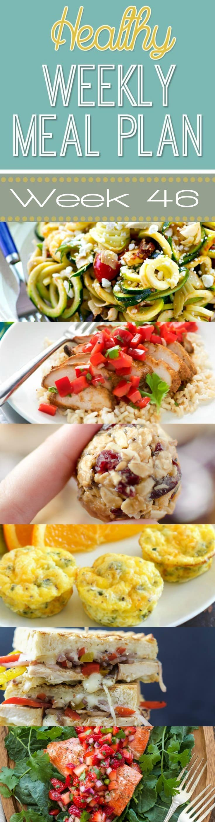 Healthy weekly meal plan 46 yummy healthy easy for Healthy and delicious dinner recipes