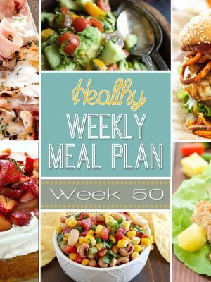 Plan out your meals with ease with our Healthy Weekly Meal Plan! Week #50 is filled with healthy main dishes to add to your dinner rotation. Plus a breakfast, lunch, snack and even an amazing dessert, too!
