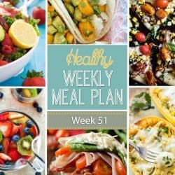 Healthy Weekly Meal Plan #51