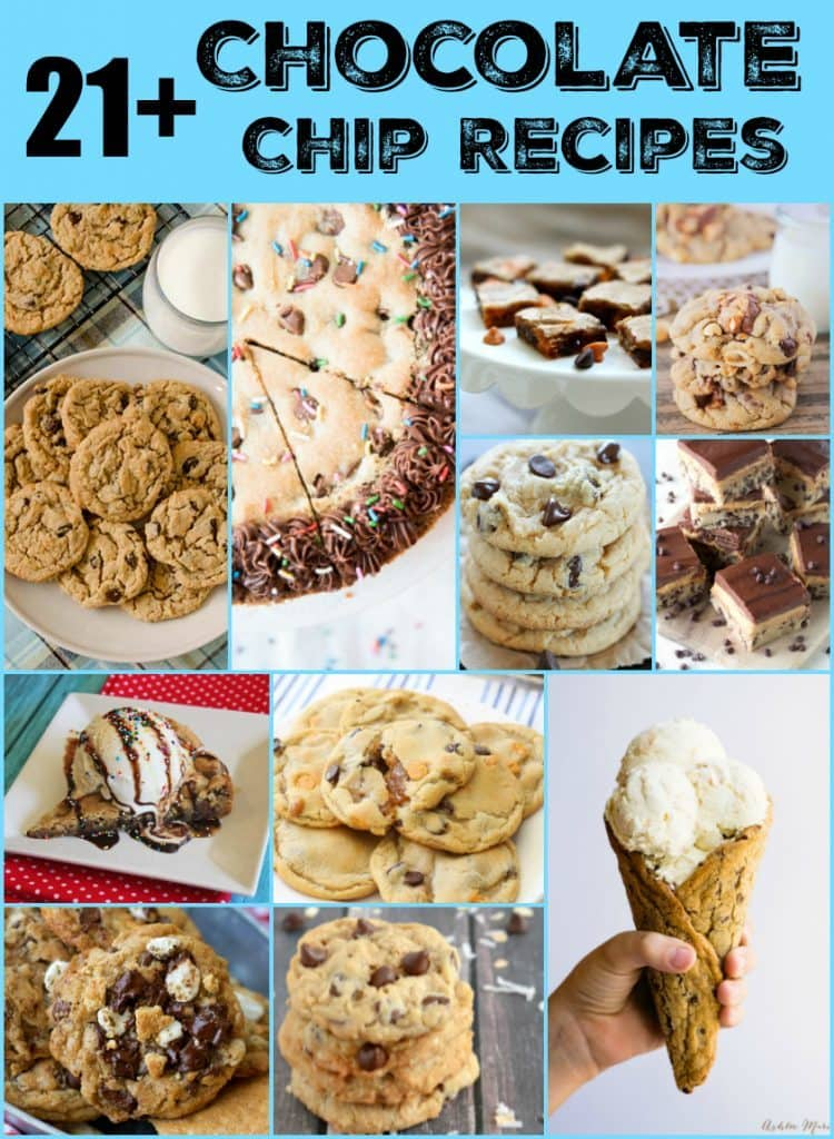 21+ Chocolate Chip Cookie Recipes!! You will find a ton of delicious chocolate chip cookie recipes in this great roundup!