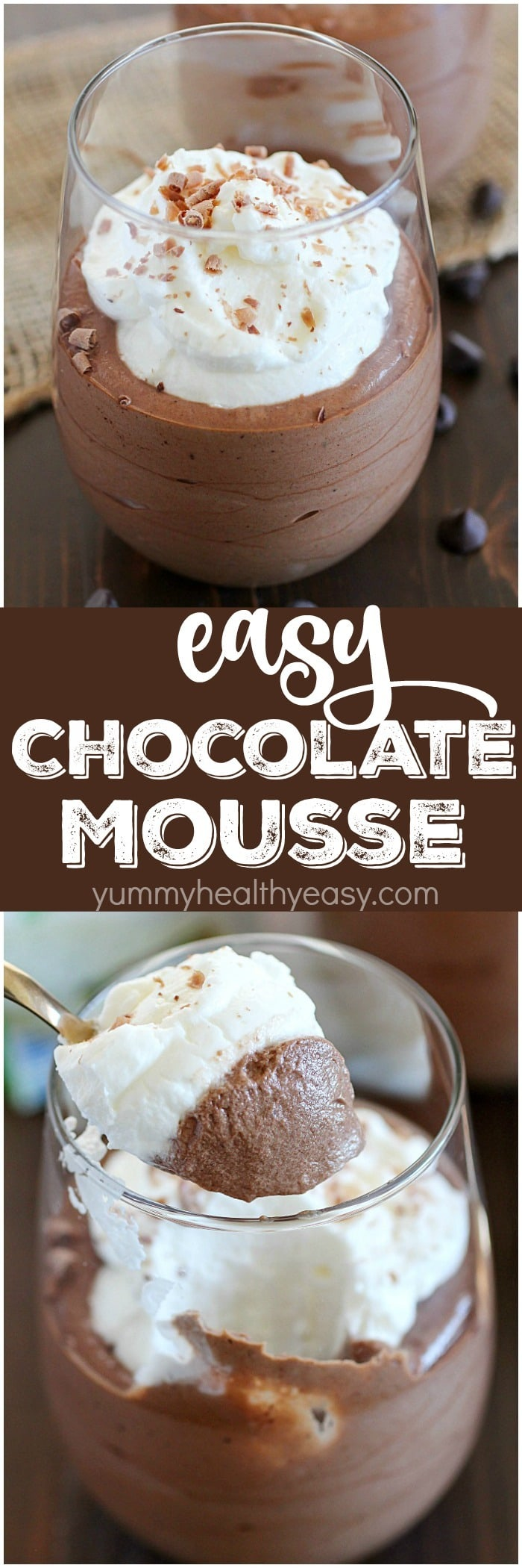 Chocolate Mousse that's incredibly easy to make with only 5 simple ingredients and a few steps from start to finish! You won't believe how creamy and totally delicious it is. Fancy enough for a party but easy enough for a quick dessert any night of the week. :) AD