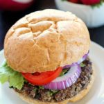 Quinoa Black Bean Burgers - meatless patties full of black beans, quinoa and spices. You won't believe these are vegetarian! The flavor is so delicious and only 270 calories per burger!