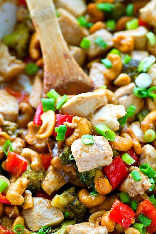 Forget about that takeout! Cashew Chicken is SO easy and so much healthier to make at home, you'll be making this 30-minute dinner multiple times a week!
