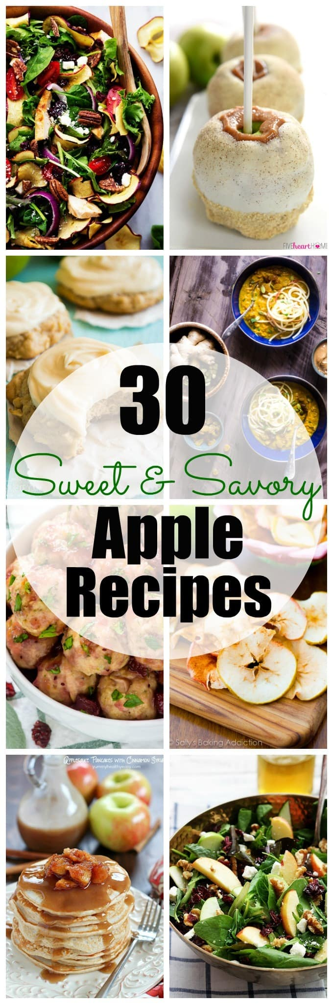 Enjoy apple season with these 30 Sweet & Savory Apple Recipes!