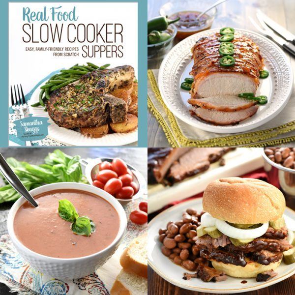 Real Food Slow Cooker Suppers Cookbook - a brand new fabulous slow cooker cookbook! Check it out!!